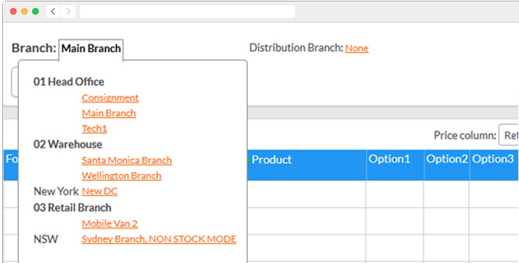 Screenshot showing how you no longer need multiple processes to check and sell stock from other stores